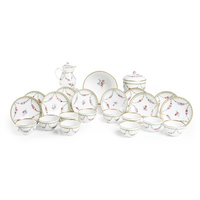 Lot 27-MEISSEN MARCOLINI PERIOD PORCELAIN PART TEA SERVICE