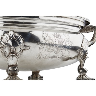 Lot 40-GEORGE III SILVER TUREEN