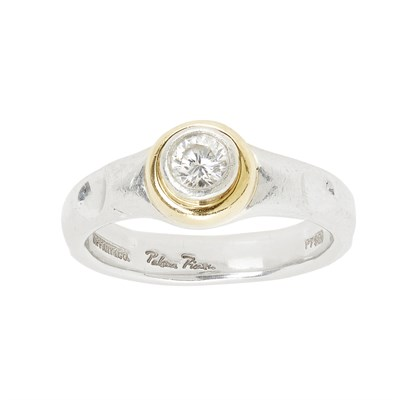 Lot 86 - A diamond solitaire ring, Paloma Picasso for Tiffany and Co
