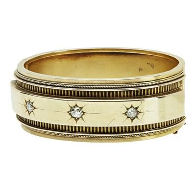 Lot 8 - A Victorian diamond set bangle
