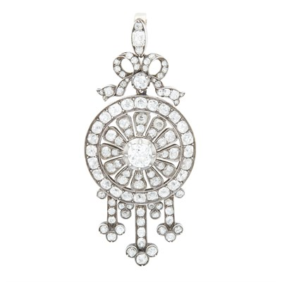 Lot 13-A Victorian diamond set pendant