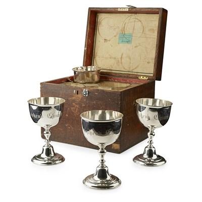Lot 490 - A set of four Scottish George IV communion goblets