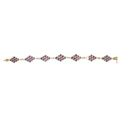 Lot 86 - A ruby and sapphire set bracelet