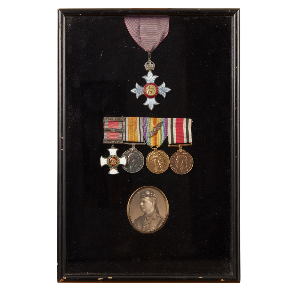 333 - A framed WWI group of five to LT. Col. Herbert Lawton Warden