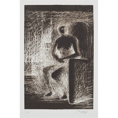 Lot 1-HENRY MOORE O.M., C.H., F.B.A. (BRITISH 1898-1986)