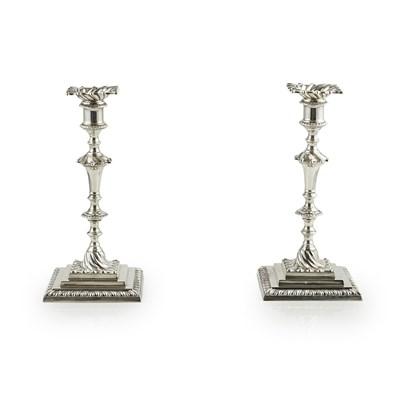Lot 484 - A suite of Victorian Scottish candelabra