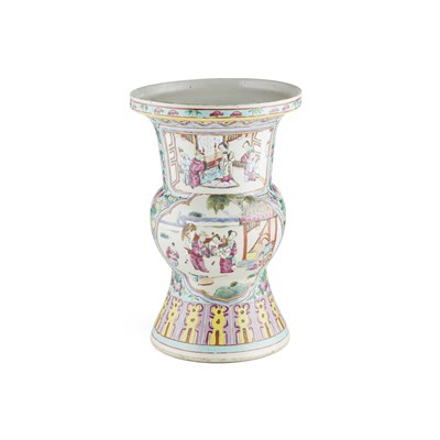 Lot 117 - CANTON FAMILLE ROSE SPITTOON
