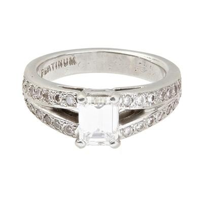 Lot 68-A diamond set ring
