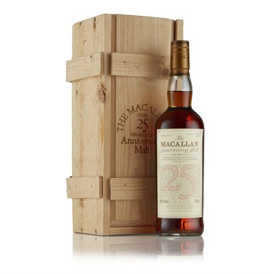 Lot 38 - THE MACALLAN 25 YEAR OLD ANNIVERSARY MALT