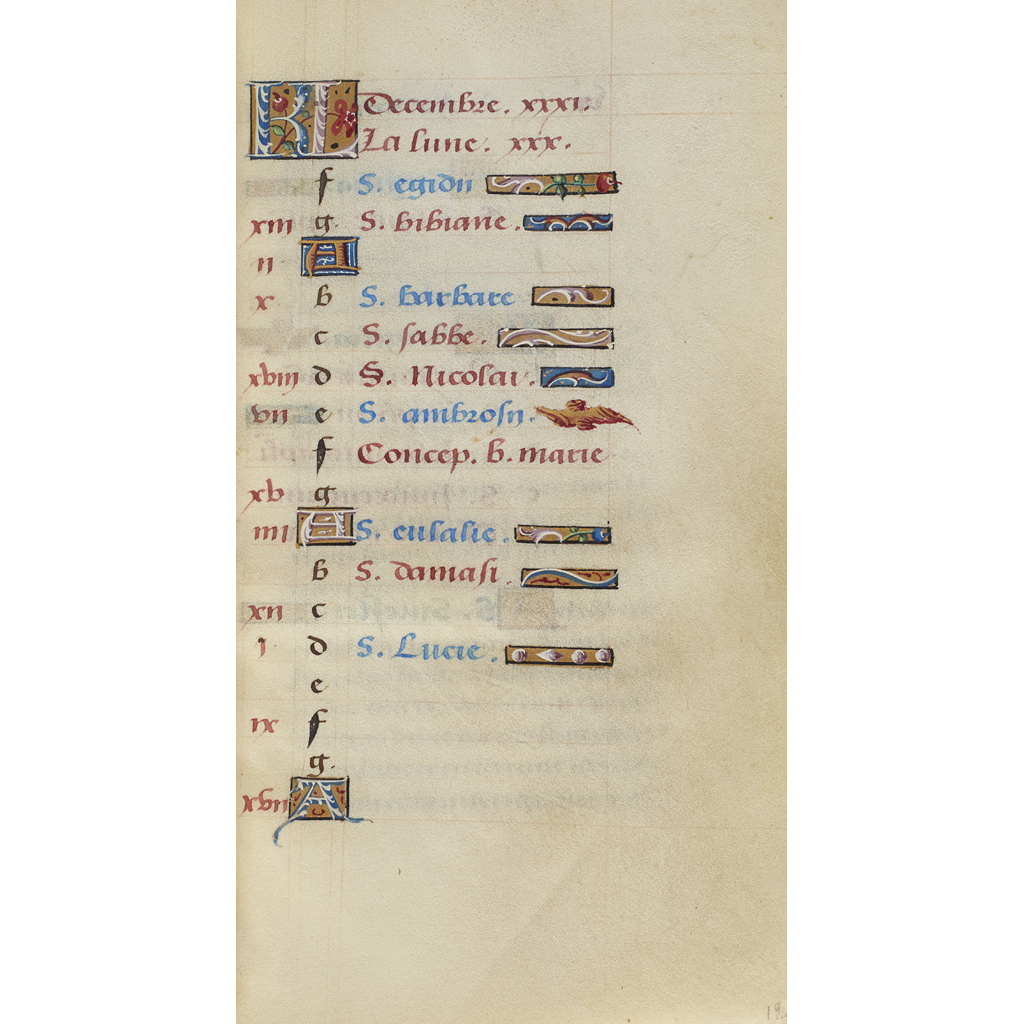 Lot 286 - BOOK OF HOURS, NORTHERN FRANCE, LATE FIFTEENTH CENTURY