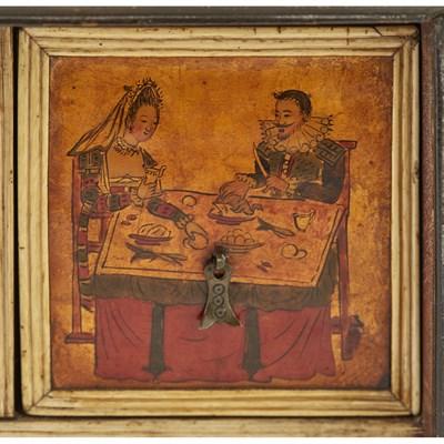 Lot 541 - INDO-PORTUGUESE TORTOISESHELL, EBONY, AND IVORY TABLE CABINET