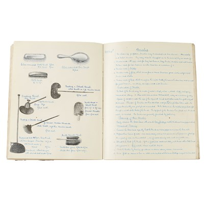 Lot 281 - 4 HANDWRITTEN COOKERY AND EMBROIDERY BOOKS
