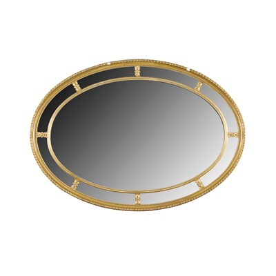 Lot 30 - GILTWOOD OVAL OVERMANTEL MIRROR