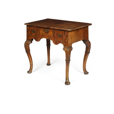 Lot 12-GEORGE II WALNUT LOWBOY