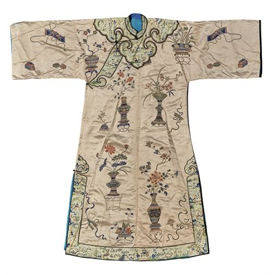 Lot 18-EMBROIDERED SILK LADY'S ROBE