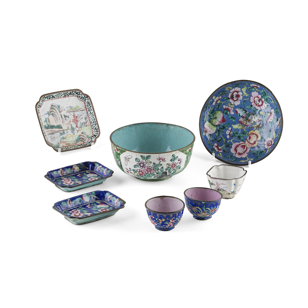 Lot 37 - COLLECTION OF CANTON ENAMEL ARTICLES