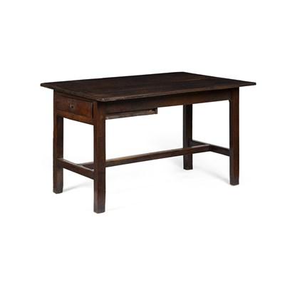 Lot 56-SMALL GEORGIAN OAK REFECTORY TABLE