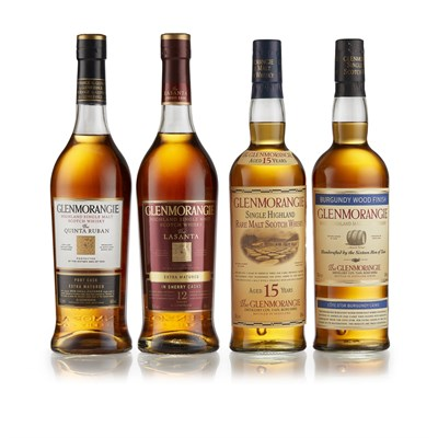 Lot 45-GLENMORANGIE BURGUNDY WOOD FINISH
