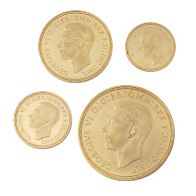 Lot 270-G.B - A George VI 1937 four gold coin specimen set in Royal Mint case