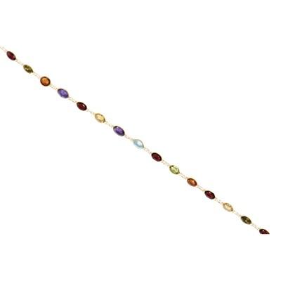 Lot 36-A multi-gem set necklace