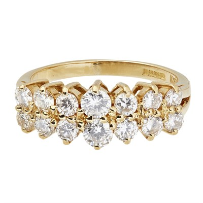 Lot 26-A diamond set cluster ring