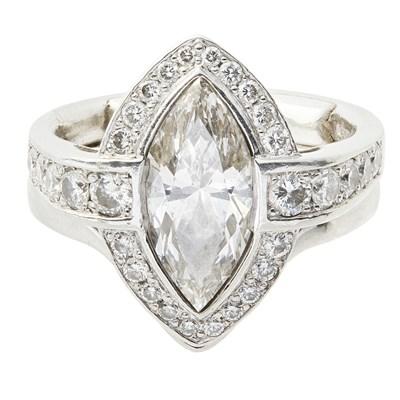 Lot 88-A diamond set cluster ring