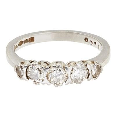 Lot 54-A five stone diamond set ring
