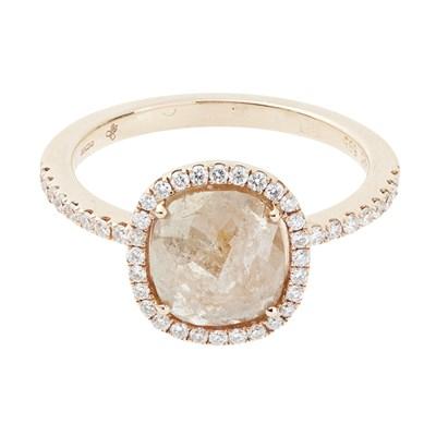 Lot 40-A diamond set cluster ring
