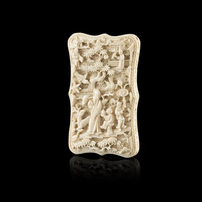 Lot 15-CANTON IVORY CARD CASE