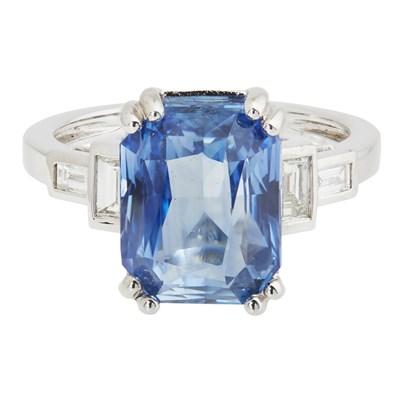 Lot 68-A sapphire and diamond set ring