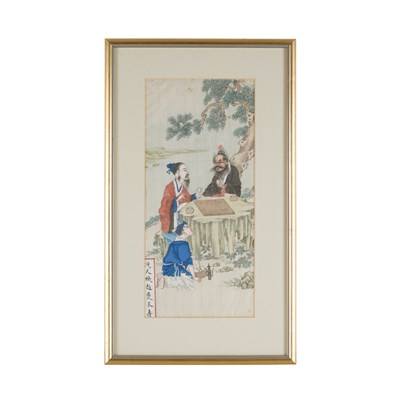 Lot 53-SET OF SIX PAINTINGS DEPICTING FAMOUS FIGURES FROM CHINESE HISTORY