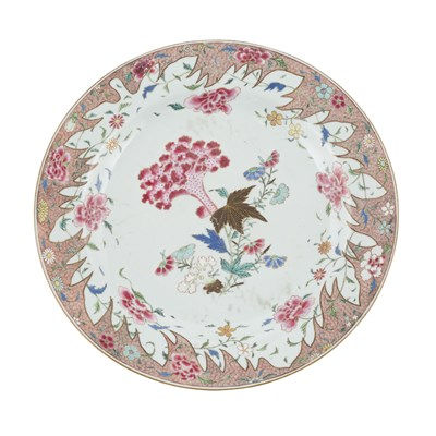 Lot 128 - PAIR OF FAMILLE ROSE CHARGERS