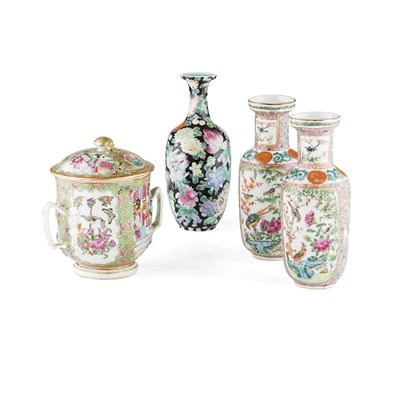 Lot 133 - FOUR FAMILLE ROSE ARTICLES
