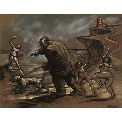 Lot 19-PETER HOWSON (SCOTTISH B.1958)
