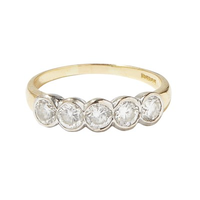 Lot 89-A five stone diamond set ring