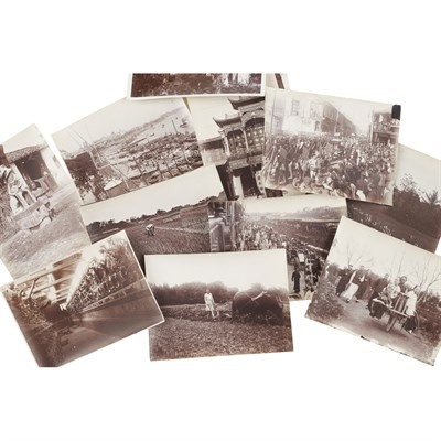 Lot 133 - SET OF THIRTY-SIX BLACK AND WHITE PHOTOGRAPHS OF SHANGHAI AND SURROUNDS