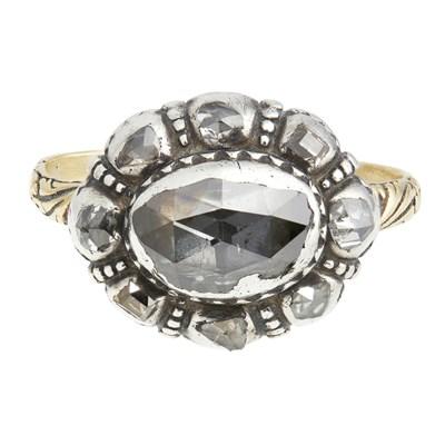 Lot 38-A Georgian diamond set cluster ring
