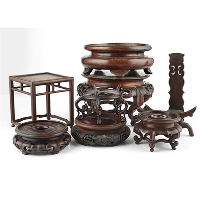 Lot 26-COLLECTION OF WOODEN STANDS