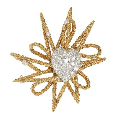 Lot 79-A diamond set cluster brooch, Kutchinsky