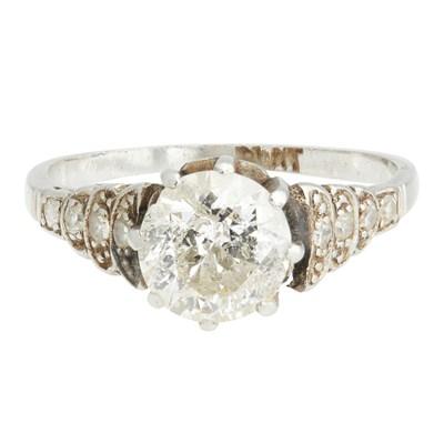 Lot 22-A 1920s single stone diamond ring