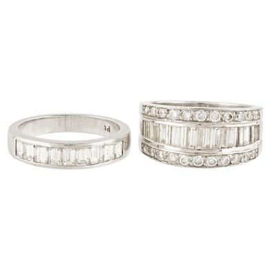Lot 39-A diamond set half eternity ring