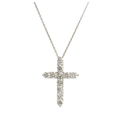 Lot 24-A diamond set cross pendant