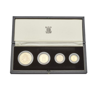 271J - G.B. - A Royal Mint cased set of four gold proof coins, 500th Anniversary set