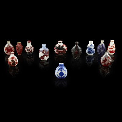 Lot 84 - COLLECTION OF TWELVE SNUFF BOTTLES