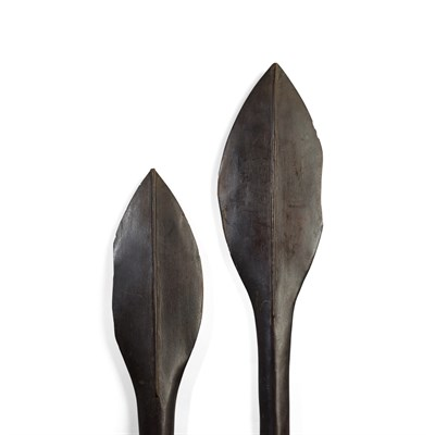 Lot 2-PAIR OF SOLOMON ISLAND PADDLES