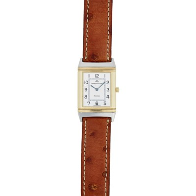 Lot 319 - A gold and stainless steel cased wrist watch, Jaeger LeCoultre