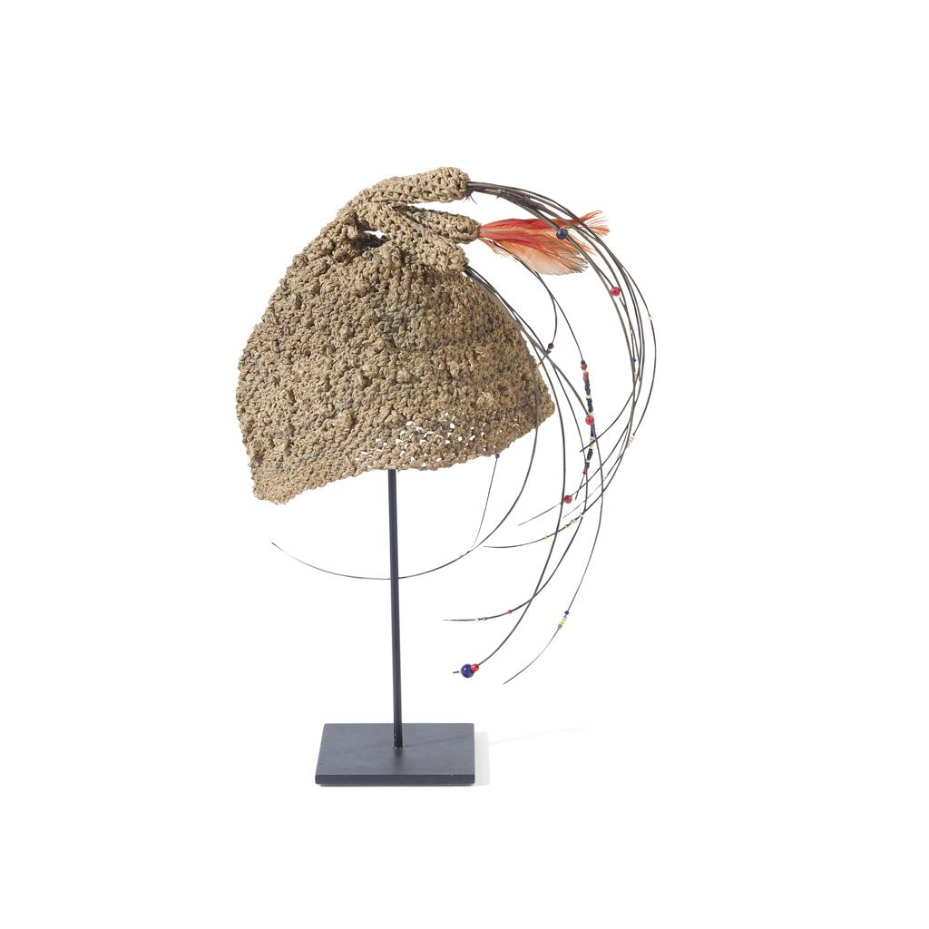 Lot 46-BAMILEKE OR BANGU ELEPHANT HAIR HAT