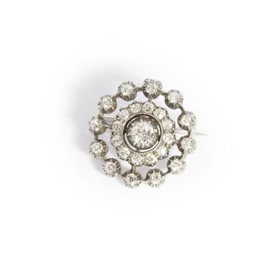 Lot 51-A diamond set brooch