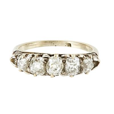 Lot 22-A five stone diamond set ring