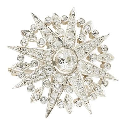 Lot 1-A diamond set star brooch